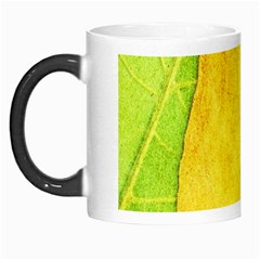 Green Yellow Leaf Texture Leaves Morph Mugs