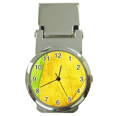 Green Yellow Leaf Texture Leaves Money Clip Watches