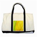 Green Yellow Leaf Texture Leaves Two Tone Tote Bag Front