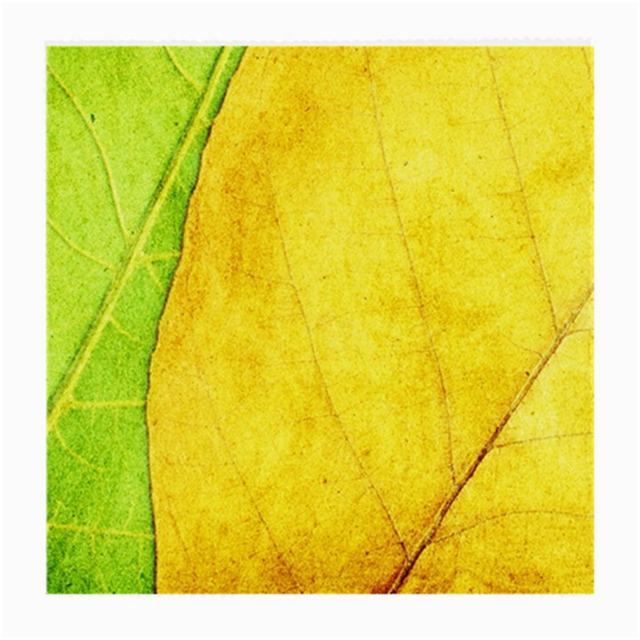 Green Yellow Leaf Texture Leaves Medium Glasses Cloth (2-Side)