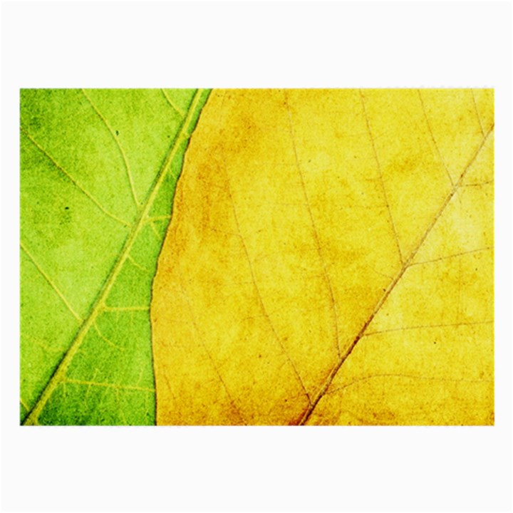 Green Yellow Leaf Texture Leaves Large Glasses Cloth