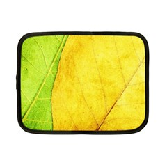 Green Yellow Leaf Texture Leaves Netbook Case (small)