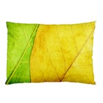 Green Yellow Leaf Texture Leaves Pillow Case 26.62 x18.9 Pillow Case