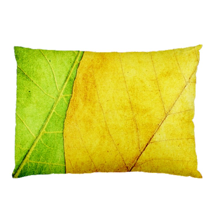 Green Yellow Leaf Texture Leaves Pillow Case
