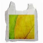 Green Yellow Leaf Texture Leaves Recycle Bag (One Side) Front