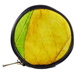 Green Yellow Leaf Texture Leaves Mini Makeup Bag Back