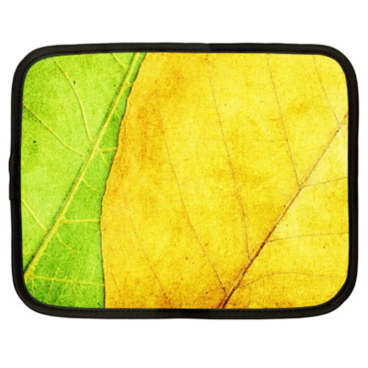 Green Yellow Leaf Texture Leaves Netbook Case (XL)