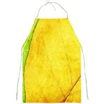 Green Yellow Leaf Texture Leaves Full Print Aprons Front