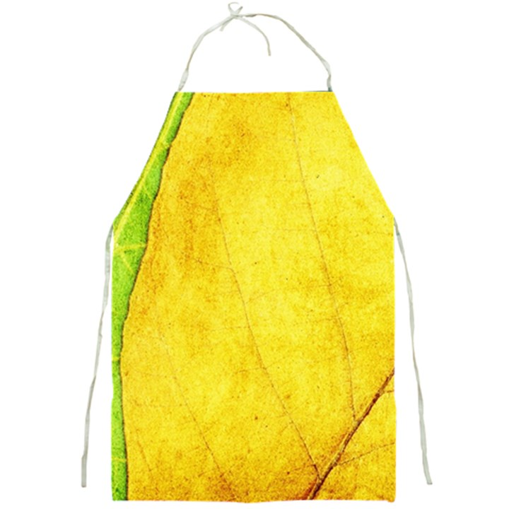 Green Yellow Leaf Texture Leaves Full Print Aprons