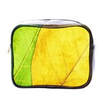 Green Yellow Leaf Texture Leaves Mini Toiletries Bag (One Side) Front