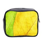Green Yellow Leaf Texture Leaves Mini Toiletries Bag (Two Sides) Back
