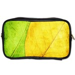Green Yellow Leaf Texture Leaves Toiletries Bag (Two Sides) Front