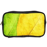 Green Yellow Leaf Texture Leaves Toiletries Bag (Two Sides) Back