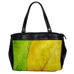 Green Yellow Leaf Texture Leaves Oversize Office Handbag