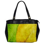 Green Yellow Leaf Texture Leaves Oversize Office Handbag Front