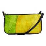 Green Yellow Leaf Texture Leaves Shoulder Clutch Bag Front
