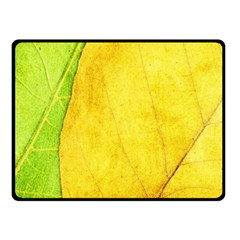 Green Yellow Leaf Texture Leaves Fleece Blanket (small)
