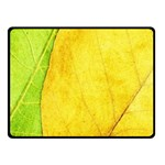 Green Yellow Leaf Texture Leaves Fleece Blanket (Small) 50 x40 Blanket Front