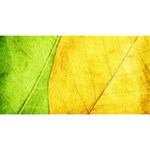 Green Yellow Leaf Texture Leaves Magic Photo Cube Long Side 2