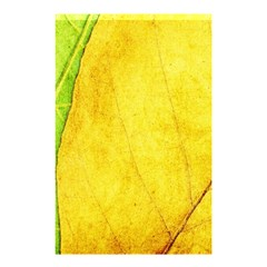 Green Yellow Leaf Texture Leaves Shower Curtain 48  X 72  (small)