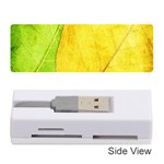 Green Yellow Leaf Texture Leaves Memory Card Reader (Stick) Front