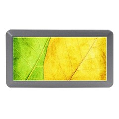 Green Yellow Leaf Texture Leaves Memory Card Reader (mini)