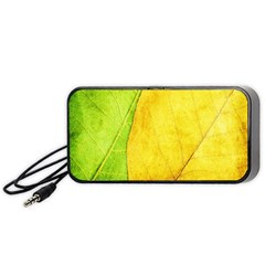 Green Yellow Leaf Texture Leaves Portable Speaker