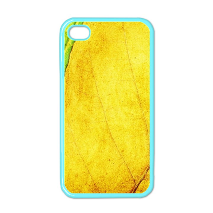 Green Yellow Leaf Texture Leaves Apple iPhone 4 Case (Color)