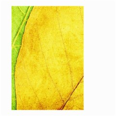 Green Yellow Leaf Texture Leaves Small Garden Flag (two Sides)