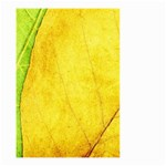 Green Yellow Leaf Texture Leaves Small Garden Flag (Two Sides) Back