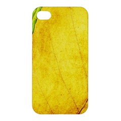 Green Yellow Leaf Texture Leaves Apple Iphone 4/4s Premium Hardshell Case