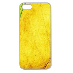 Green Yellow Leaf Texture Leaves Apple Seamless Iphone 5 Case (clear)