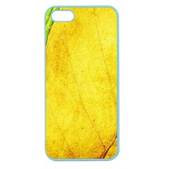Green Yellow Leaf Texture Leaves Apple Seamless Iphone 5 Case (color)