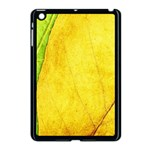 Green Yellow Leaf Texture Leaves Apple iPad Mini Case (Black) Front