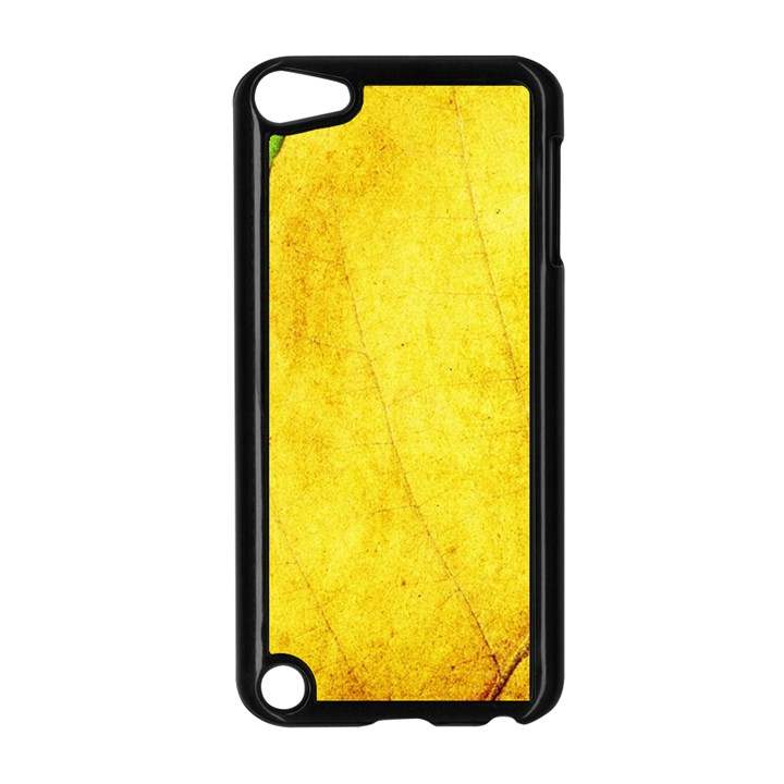 Green Yellow Leaf Texture Leaves Apple iPod Touch 5 Case (Black)
