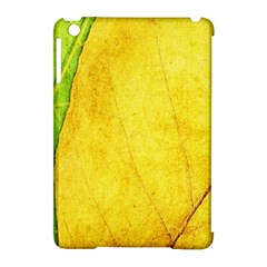 Green Yellow Leaf Texture Leaves Apple Ipad Mini Hardshell Case (compatible With Smart Cover)