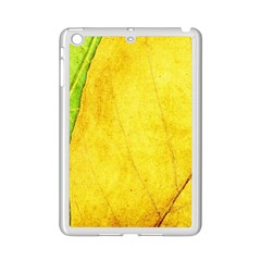 Green Yellow Leaf Texture Leaves Ipad Mini 2 Enamel Coated Cases