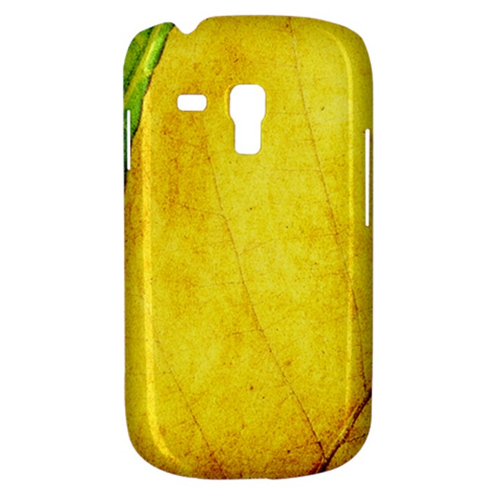 Green Yellow Leaf Texture Leaves Samsung Galaxy S3 MINI I8190 Hardshell Case