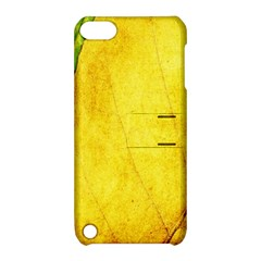 Green Yellow Leaf Texture Leaves Apple Ipod Touch 5 Hardshell Case With Stand