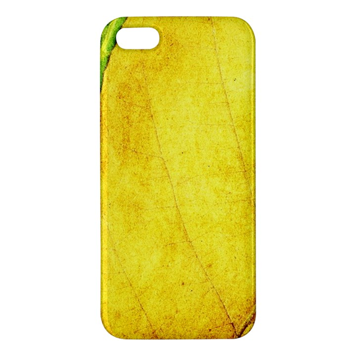 Green Yellow Leaf Texture Leaves Apple iPhone 5 Premium Hardshell Case
