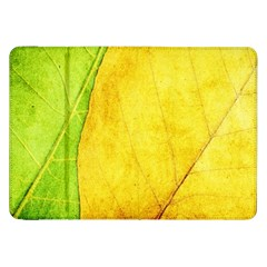 Green Yellow Leaf Texture Leaves Samsung Galaxy Tab 8 9  P7300 Flip Case
