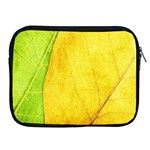 Green Yellow Leaf Texture Leaves Apple iPad 2/3/4 Zipper Cases Front