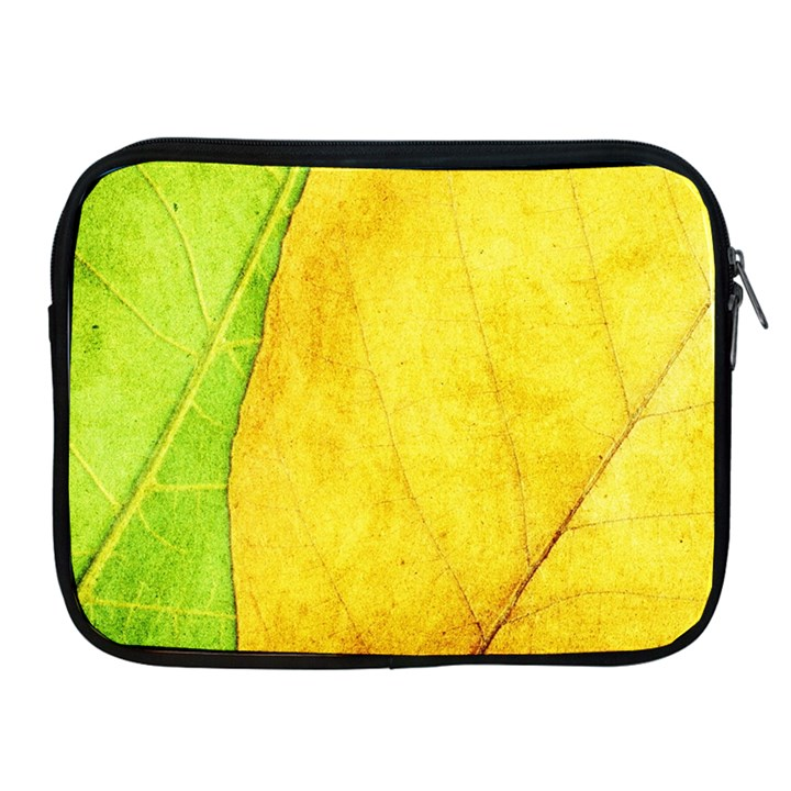 Green Yellow Leaf Texture Leaves Apple iPad 2/3/4 Zipper Cases