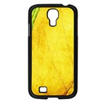 Green Yellow Leaf Texture Leaves Samsung Galaxy S4 I9500/ I9505 Case (Black) Front