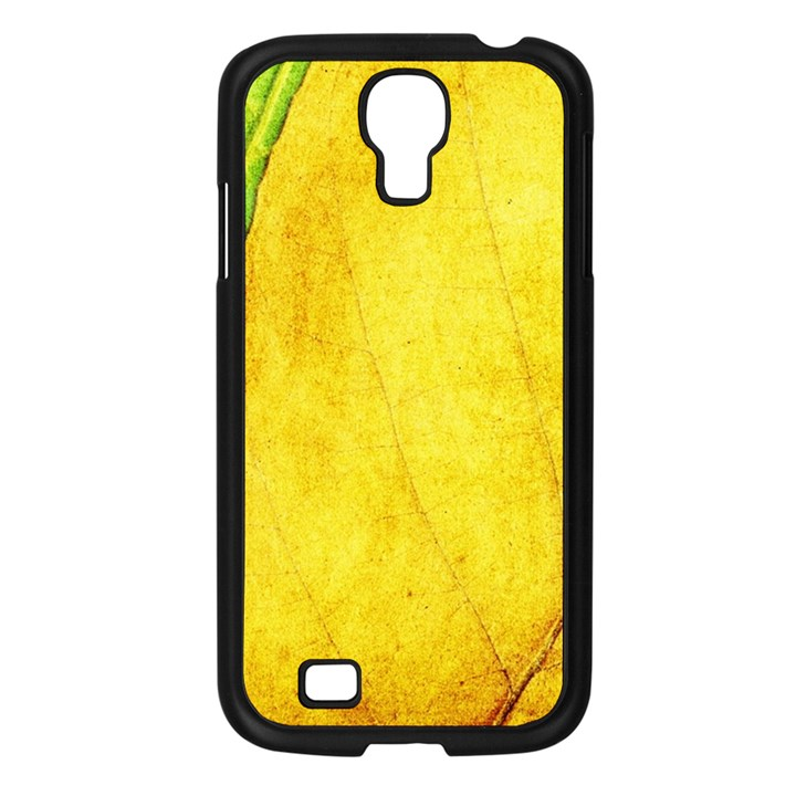 Green Yellow Leaf Texture Leaves Samsung Galaxy S4 I9500/ I9505 Case (Black)