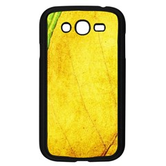 Green Yellow Leaf Texture Leaves Samsung Galaxy Grand Duos I9082 Case (black)