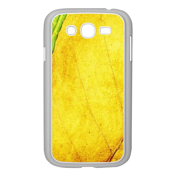 Green Yellow Leaf Texture Leaves Samsung Galaxy Grand DUOS I9082 Case (White)