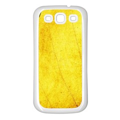 Green Yellow Leaf Texture Leaves Samsung Galaxy S3 Back Case (white)