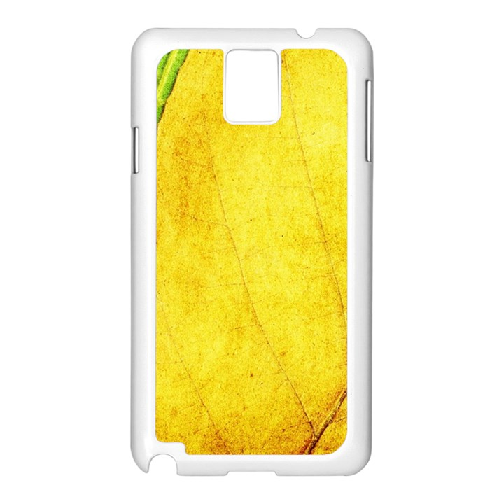 Green Yellow Leaf Texture Leaves Samsung Galaxy Note 3 N9005 Case (White)
