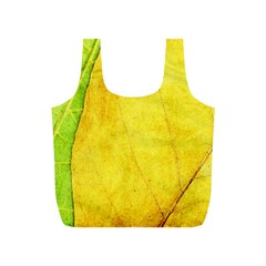 Green Yellow Leaf Texture Leaves Full Print Recycle Bag (s)